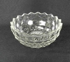 """Vintage Fostoria American Small Bowl 5.5"""" Clear Glass Cubes - $12.86"""