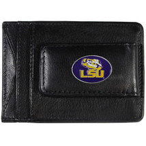 lsu louisiana state tigers logo ncaa college emblem leather cash & cardholder - $27.07