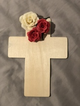 Cross of roses red - $12.00