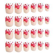 24 Pcs Fashion Nails Stickers Beautiful Nail Decorations False Nails Tips [E]