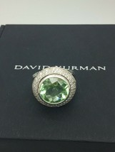David Yurman 925 Diamonds 14 mm Prasolite Cerise Ring Sz 7 - $462.48