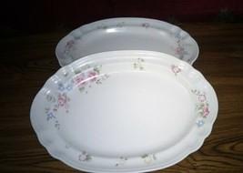 "Pfaltzgraff Stoneware Tea Rose 14"" Oval Serving Platter ~ Set of 2 ~ NEW!  - $18.80"