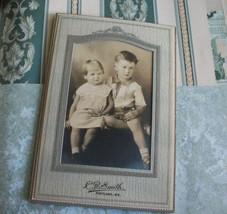 Antique Photograph Charming Children C.R. Smith Studio Photography Portl... - $14.99