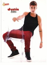 Justin Bieber Lady Gaga teen magazine pinup clipping Japan sexy chair behind