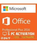 Microsoft Office Professional Plus 2016 for 3PCs  - $39.99