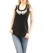 Alexander McQueen Women`s Black Skull Crystal Vest Size 46 BCF510 - $262.27
