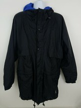 Helly Hansen Packable Nylon Windbreaker Vented Light Water Jacket Black ... - $40.38