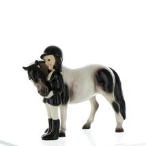 Hagen Renaker Specialty Horse Girl with Pinto Pony Ceramic Figurine