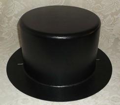 Large Hard Plastic Black Top Hat ~ Dickens ~ Snowman ~ Tree Topper ~ Magic - $14.99