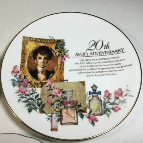 Vintage Avon Plates 20th / 15th Anniversary and Snow Scene  Decorative Plates