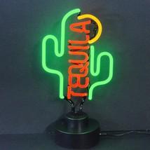 """Tequila Cactus Handmade Neon Sculpture 16""""x8"""" - $75.00"""