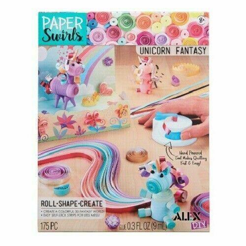 New Alex D.I.Y. Paper Swirls Unicorn Fantasy Roll Shape Create w/ Quilling Tool