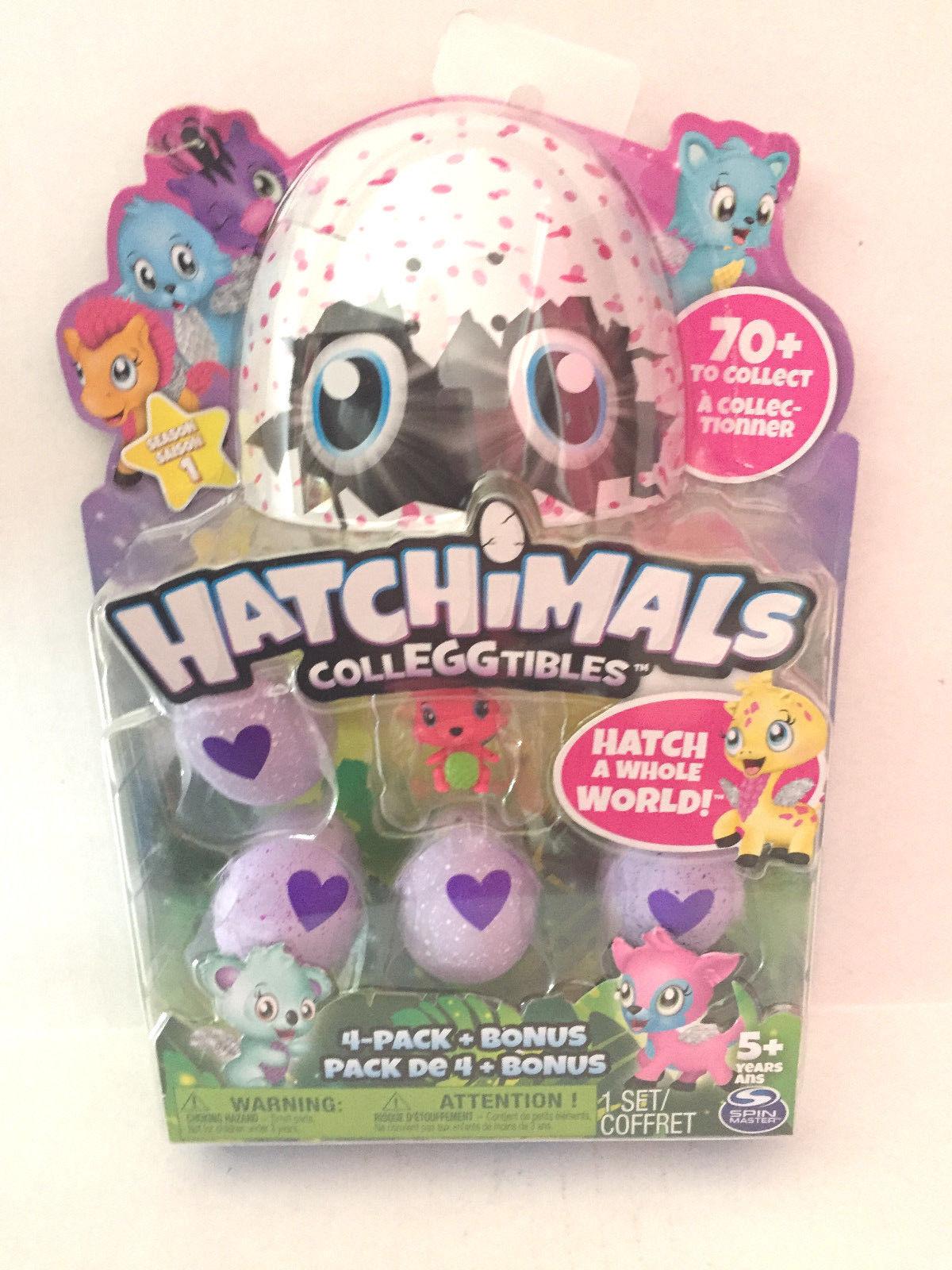Hatchimals CollEGGtibles 4 Pack+ Bonus Season 1 Hatch A Whole World!