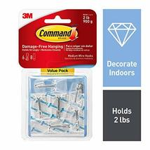 Command Hooks, 6 hooks, 8 strips, Medium 17065CLR-6ES image 12