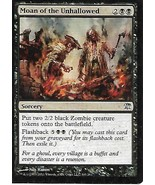 Magic the Gathering Card- Moan of the Unhallowed - $1.25