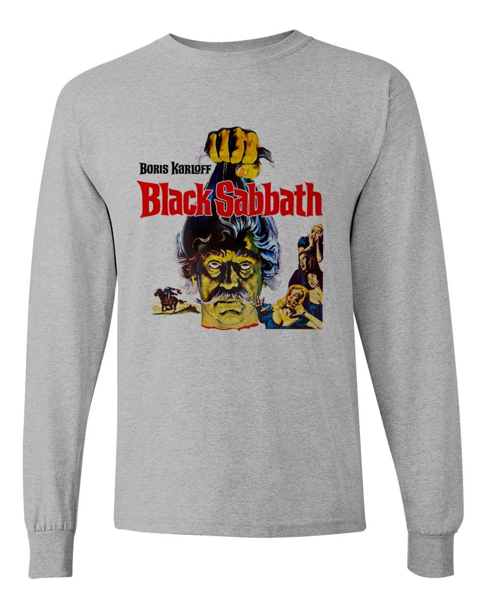 Black Sabbath Tee Boris Karloff retro vintage horror long sleeve distressed