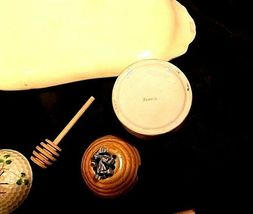 Bread and Cheese Platter with two Honey Combs with Stir Sticks AA18-1309 Vintage image 4