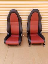 00-05 Toyota MR2 Spyder Seats L&R Reupholstered W/ Tracks image 1