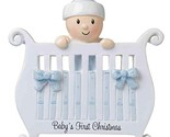 Baby's First Christmas Personalized Christmas Tree Ornament Blue Crib DIY KIT