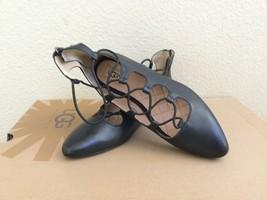 Ugg Lorianna Black Lace Ballet Leather Flats Us 8 / Eu 39 / Uk 6.5 - Nib - $65.44