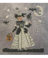 White Witch halloween cross stitch chart Dames of the Needle  - $6.30