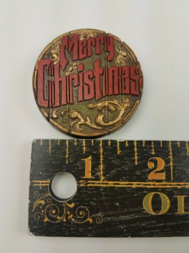 Hallmark Christmas Round Magnet Merry Christmas image 3
