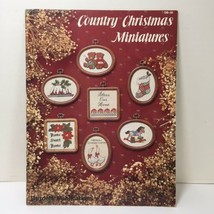 Country Christmas Miniatures Cross Stitch Pattern Book Burdett Publications - $9.74