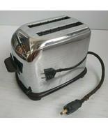 Vintage Toastmaster Toaster 1B6 Automatic Timer 2 Slice Daisy Chrome - $43.64