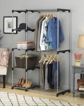 Closet Organizer Rack Shelves Clothes Wardrobe Shelf Storage System Bedr... - $57.31