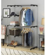 Closet Organizer Rack Shelves Clothes Wardrobe Shelf Storage System Bedr... - £48.67 GBP