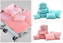 6PCS/Set High Quality Oxford Cloth Travel Mesh Bag Luggage Organizer Pack - £14.27 GBP
