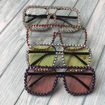 ZAOLIHU Square Diamond Sunglasses Men 2019 Oversized Designer Sun Glasse... - $42.40