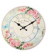 MDF Wall Clock ~ Pink Rose Royal Botanic 1 (28cm) - $18.90
