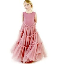Jennifer + June Pink Fluffy Layered Tutu Flower Girl Ballerina Toddler D... - $43.26