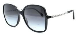 Chanel 5210-Q c.1074/S6 Women's Sunglasses Black & Silver / Gray Gradien... - $147.41