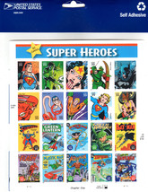 Super Heroes DC Comic Book Chapter 1, 39 Cent Stamps Full Sheet of 20 (2... - $20.00
