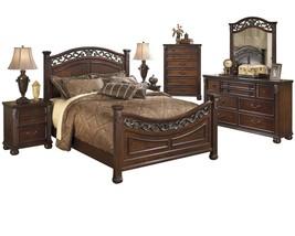 Ashley Leahlyn 6PC Bedroom Set E King Panel - Brown - $2,800.19