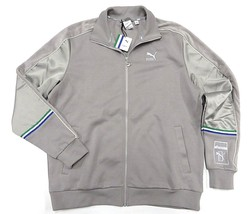 Nwt Puma X Big S EAN Grey Full Zip Up Jacket Adult Men's Size X-LARGE - $118.75