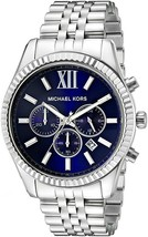 Michael Kors Mk8280 Lexington Chronograph Navy Dial Silver Tone Men's Wrist Watch           Cool                  Love This Watch! by Michael Kors