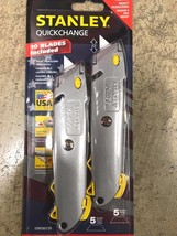 Stanley Quick Change Retractable Blade Utility Knife 2 pack 10-499 10 bl... - $18.59
