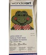 "NEW/SEALED!  WonderArt Latch Hook Rug/Wall Hanging Kit #426186 ""Froggy"" ... - $15.51"