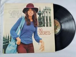 Carly Simon No Secrets Vinyl Record Vintage 1972 Elektra EKS 75049 Stereo - $37.19