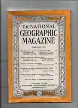 National Geographic - February 1958 - Bahamas, Arizona, Huntington Library. - $1.18