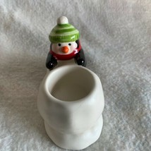 Holiday Christmas Penguin Tea Light Candle Holder Collectible Hallmark Winter - $13.99