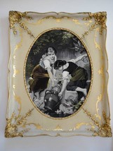 Antique Rare Framed S P Solomons Decorative Art Co. NY Tapestry Girls at... - $65.54