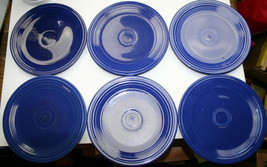 You Pick vintage COBALT blue HLC Fiestaware LUNCHEON PLATE sager pin wet... - $4.05