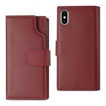 Reiko IPhone X For Genuine Leather Wallet RFID Fold |Magnetic Protection... - $34.60