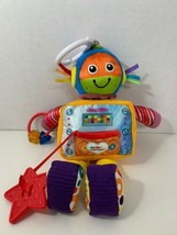 Tomy Lamaze Rusty the Robot plush baby crib stroller clip on toy rattle  - $5.93
