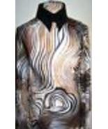 Hologram Silver Sequin Dot Tiger Print Lycra Stretch Fabric 2 Yards 22 I... - $52.00