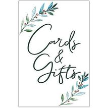Watercolor Leaves Wedding Ceremony Cards and Gifts Sign Poster - $12.38